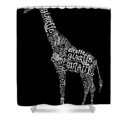 Giraffe Is The Word Shower Curtain by Heather Applegate