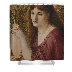 Girl At A Fountain Shower Curtain by Simeon Solomon