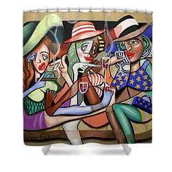 Girls Night Out Shower Curtain by Anthony Falbo
