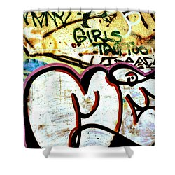 Girls Tag Too Shower Curtain by Trever Miller
