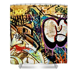 Girls Tag Two Shower Curtain by Trever Miller