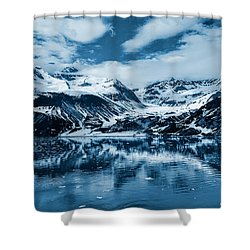 Glacier Bay - Alaska - Landscape - Blue  Shower Curtain by Shara Lee