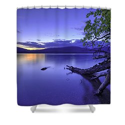Glacier Blue Shower Curtain by Chad Dutson