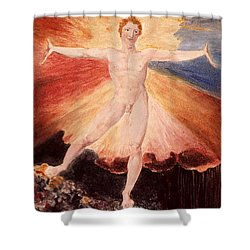 Glad Day Or The Dance Of Albion Shower Curtain by William Blake