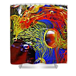 Glass Abstract 630 Shower Curtain by Sarah Loft