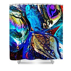 Glass Abstract 687 Shower Curtain by Sarah Loft