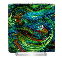 Glass Macro Abstract 13e7a Shower Curtain by David Patterson