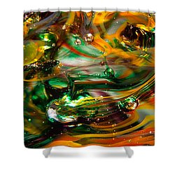 Glass Macro Abstract Ego1 Shower Curtain by David Patterson