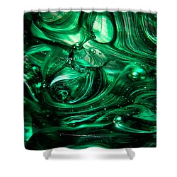 Glass Macro Abstract Egw2 Shower Curtain by David Patterson