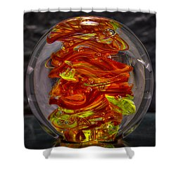 Glass Sculpture - Fire - 13r1 Shower Curtain by David Patterson