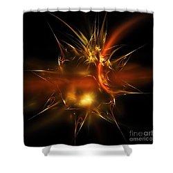 Glass Sticker Shower Curtain by Elizabeth McTaggart