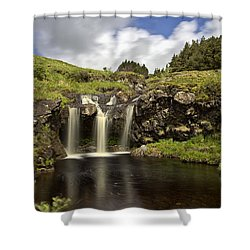 Glen Brittle Shower Curtain by David Pringle