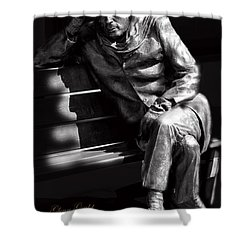 Glenn Gould Shower Curtain by Andrew Fare