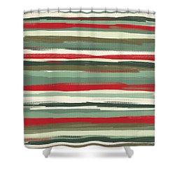 Gloomy Beach Day Shower Curtain by Lourry Legarde