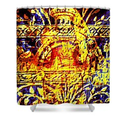 Glorious Gold Shower Curtain by Larry Lamb
