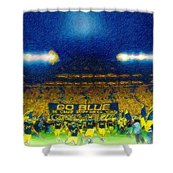 Glory At The Big House Shower Curtain by John Farr