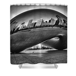 Glowing Bean Shower Curtain by Sebastian Musial