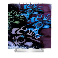 Glowing Horse Series 4 Shower Curtain by Teri Schuster