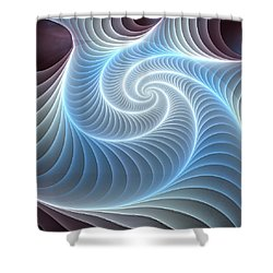 Glowing Spiral Shower Curtain by Anastasiya Malakhova