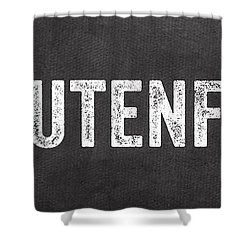 Gluten Free Shower Curtain by Linda Woods