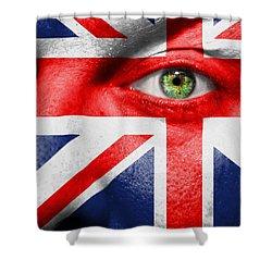 Go United Kingdom Shower Curtain by Semmick Photo