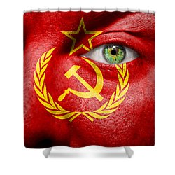 Go Ussr Shower Curtain by Semmick Photo