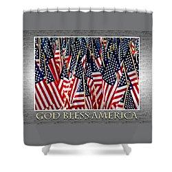 God Bless America Shower Curtain by Carolyn Marshall