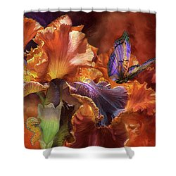 Goddess Of Miracles Shower Curtain by Carol Cavalaris