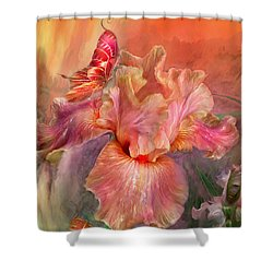 Goddess Of Spring Shower Curtain by Carol Cavalaris