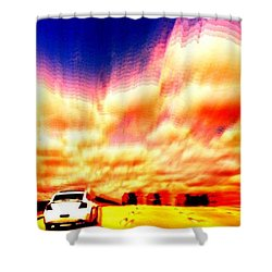 Going For A Ride Shower Curtain by Paulo Guimaraes