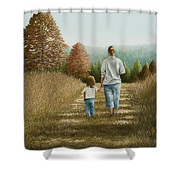 Going Home Shower Curtain by Mary Ann King