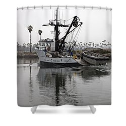 Going To Work Shower Curtain by Amanda Barcon