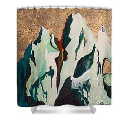 Gold Mountain Shower Curtain by Joseph Demaree