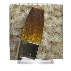 Golden Brush Shower Curtain by Sonali Gangane