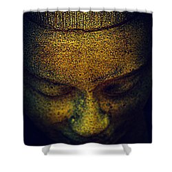 Golden Buddha Shower Curtain by Susanne Van Hulst