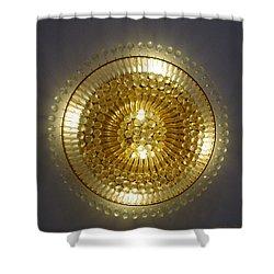 Golden Circle Shower Curtain by Leena Pekkalainen
