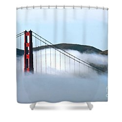 Golden Gate Bridge Clouds Shower Curtain by Tap On Photo
