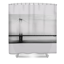 Golden Gate Bridge - Fog And Sun Shower Curtain by Ben and Raisa Gertsberg