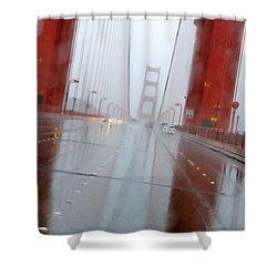 Golden Gate Rain Shower Curtain by Daniel Furon