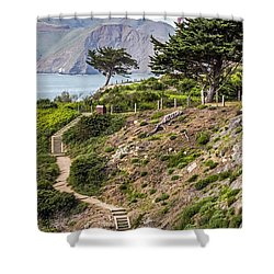 Golden Gate Trail Shower Curtain by Kate Brown