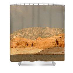 Golden Hour At Lake Powell Shower Curtain by Julie Niemela