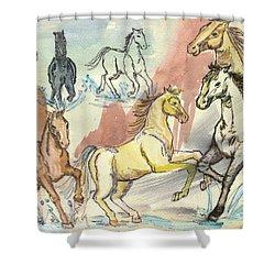 Golden Mare Shower Curtain by Carol Oufnac Mahan