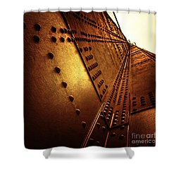 Golden Mile Shower Curtain by Andrew Paranavitana