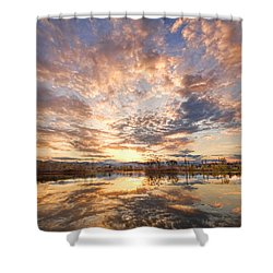 Golden Ponds Scenic Sunset Reflections 3 Shower Curtain by James BO  Insogna