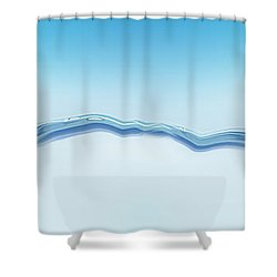 Goldfish Wearing Shark Fin Shower Curtain by Panoramic Images