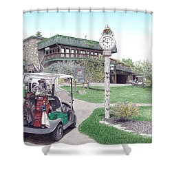 Golf Seven Springs Mountain Resort Shower Curtain by Albert Puskaric