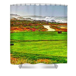 Golf Tee At Spyglass Hill Shower Curtain by Jim Carrell
