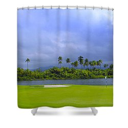 Golfer's Paradise Shower Curtain by Stephen Anderson