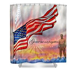 Gone But Not Forgotten Military Memorial Shower Curtain by Barbara Chichester