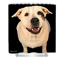 Good Dog Shower Curtain by Bellesouth Studio